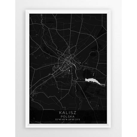Mapa plakat KALISZ