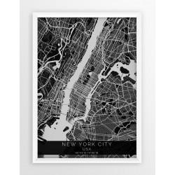 Mapa plakat NOWY JORK - linia BLACK