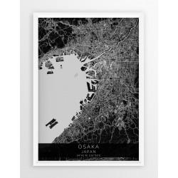 Mapa plakat OSAKA - linia BLACK