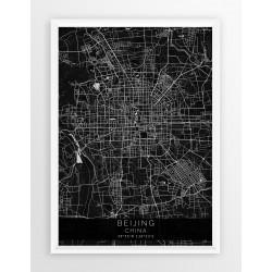 Mapa plakat PEKIN - linia BLACK