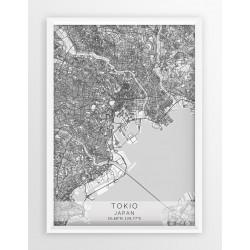 Mapa plakat TOKIO- linia WHITE