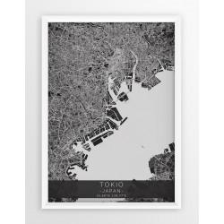 Mapa plakat TOKIO - linia BLACK