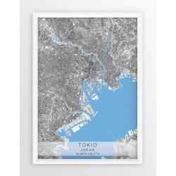 Mapa plakat TOKIO - linia BLUE/GRAY