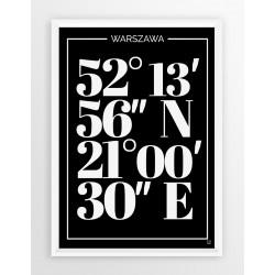 Plakat typograficzny WARSZAWA 1 - linia BLA
