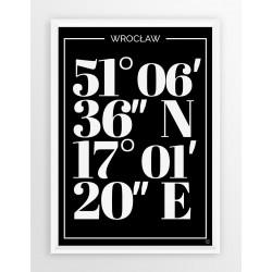 Plakat typograficzny WROCŁAW 1 - linia BLA