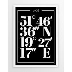 Plakat typograficzny ŁÓDŹ1 - linia BLA