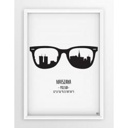 Plakat WARSZAWA - okulary