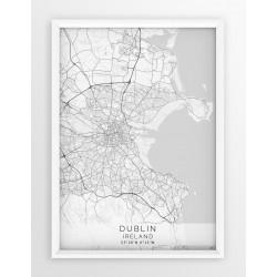 Mapa plakat DUBLIN- linia WHITE