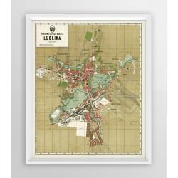 Stara mapa/planLUBLIN (1931r) - reprint