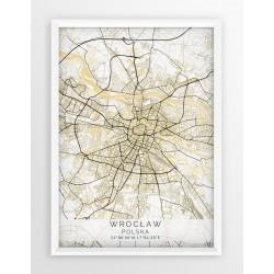 Plakat mapa WROCŁAW - linia BEIGE