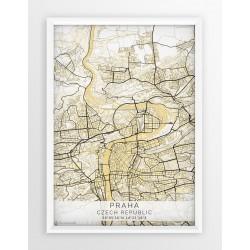 Plakat mapa PRAGA- linia BEIGE
