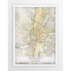Plakat mapa BUDAPESZT - linia BEIGE