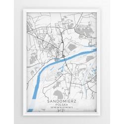 Mapa plakat SANDOMIERZ - linia BLACK