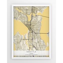 Plakat mapa SEATTLE - linia BEIGE
