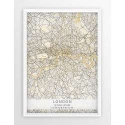 Plakat mapa LONDYN - linia BEIGE