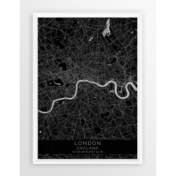 Mapa plakat LONDYN - linia BLACK