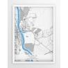 Plakat, mapa SŁUBICE - linia BLUE/GRAY