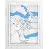 Plakat, mapa AUGUSTÓW - linia BLUE/GRAY