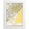 Plakat, mapa Barcelona - linia BEIGE