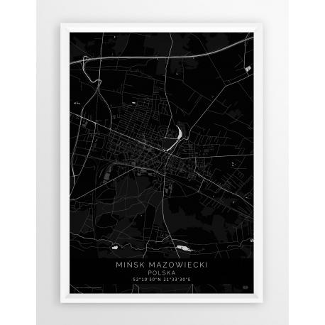 Mapa plakat MIŃSK MAZ. - linia BLACK