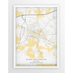 Plakat mapa MIŃSK MAZ. - linia BEIGE