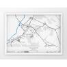 Plakat, mapa CZARNKÓW - linia BLUE/GRAY