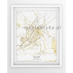 Mapa plakat KALISZ - linia BEIGE/PASSE-PARTOUT