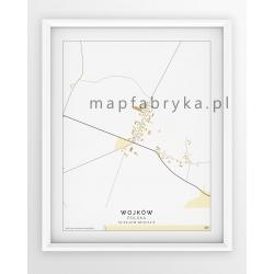 Plakat, mapa WOJKÓW - linia BEIGE