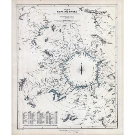 Stara mapa RZEKI ŚWIATA (1845r) - reprint