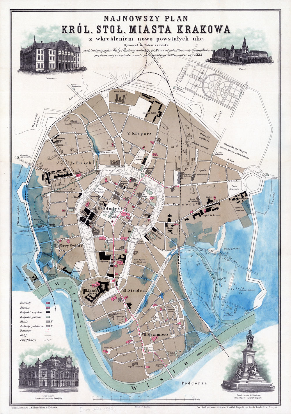 Kraków mapa po retuszu