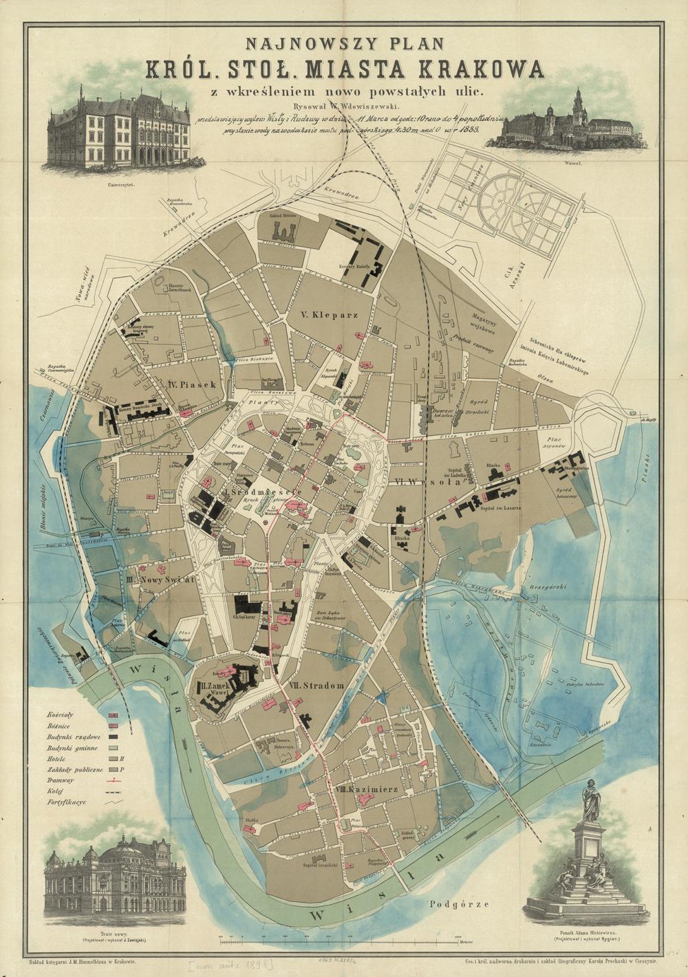 plan Krakowa przed retuszem