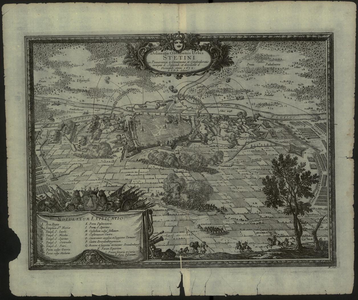 Szczecin - mapa z 1696r