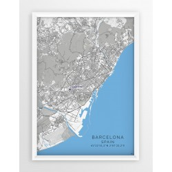 Mapa plakat FC Barcelona - lokalizacja w linii Blue