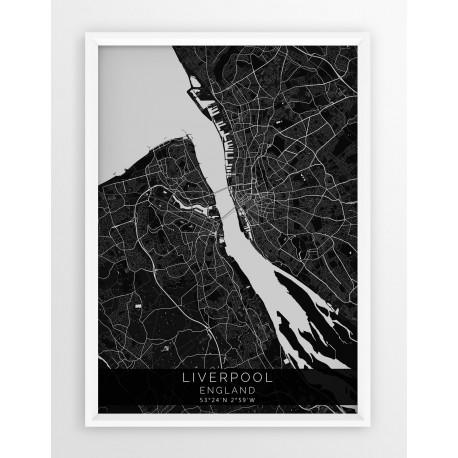 Mapa plakat LIVERPOOL- linia BLACK