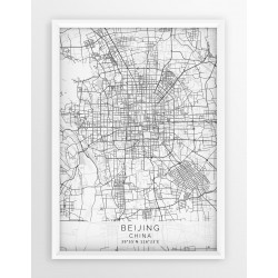 Mapa plakat PEKIN - linia WHITE