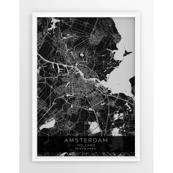 Mapa plakat AMSTERDAM - linia BLACK