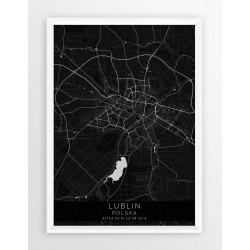 Mapa plakat LUBLIN - linia BLACK