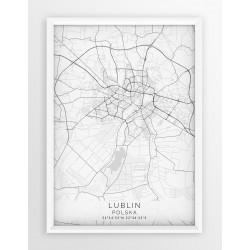 Mapa plakat LUBLIN - linia WHITE
