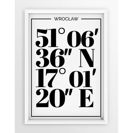 Plakat typograficzny WROCŁAW 1 - linia WHITE