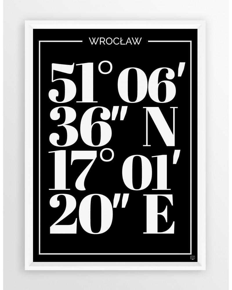 Plakat Typograficzny Wrocław Seria Black