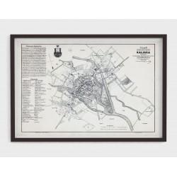 Stary plan miasta KALISZA (1878r) - reprint