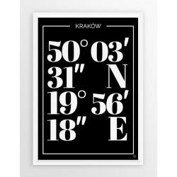 Plakat typograficzny KRAKÓW 1 - linia BLA