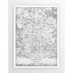 Mapa plakat Real Madryt - lokalizacja w linii Blue