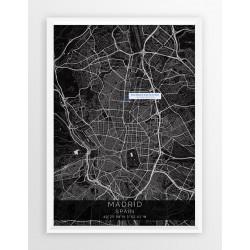 Mapa plakat REAL MADRYT - lokalizacja w linii Black