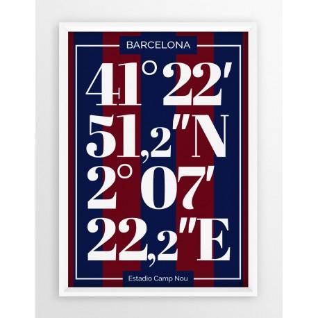Plakat typograficzny FC BARCELONA