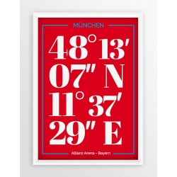 Plakat typograficzny BAYERN MONACHIUM