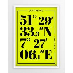 Plakat typograficzny BORUSSIA DORTMUND