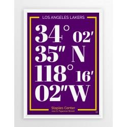 Plakat typograficzny LOS ANGELES LAKERS