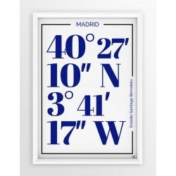 Plakat typograficzny REAL MADRYT