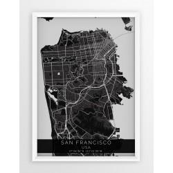 Mapa plakat SAN FRANCISCO - linia BLACK